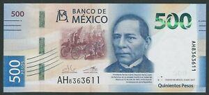MEXICO 500 PESOS 2017   P- NEW UNC