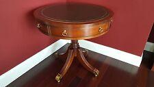 Pennsylvania House Round Cherry Leather Top Drum Table