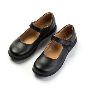 Women Girl School Lolita Low Flat Heel Pump Uniform Buckle Leather Cosplay Shoes