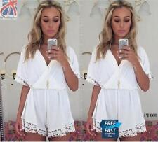 Petite V Neck Short Sleeve Jumpsuits & Playsuits for Women
