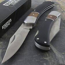 "7"" PREMIUM WOOD HANDLE TACTICAL FOLDING POCKET KNIFE Open Assist Blade EDC"