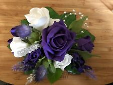 Scottish Wedding Small Cake Topper Decoration Thistles Rose & Lavender