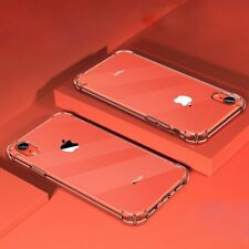For iPhone XR Case Transparent Clear Shockproof Silicone Bumper Protective Cover