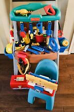 ALL VINTAGE FISHER PRICE Lk TIKES ALL-IN-ONE WORKSHOP W/ FP CHAIR & 76 FP TOOLS!