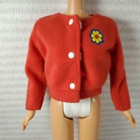 JACKET ~ BARBIE DOLL FASHION AVENUE RED YELLOW FLOWER COAT ACCESSORY CLOTHING