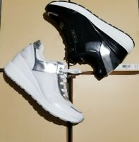 NEW Michael Kors Shoes cliff Trainer Black & white MK Fashion sports sneakers