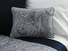 NEW Custom Ralph Lauren Paisley Suite Navy Accent Pillow 1 Button