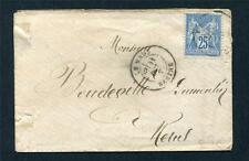 18?? COVER + FRANCE STAMP