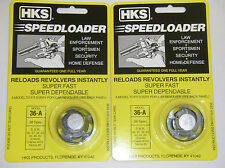 2 Pack HKS 36-A Speed Loader 38 Spl S&W 36, 37, 38, 40, 42, 49, 60 Taurus 85