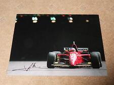 Jean Alesi Hand Signed Monaco Ferrari F1 Photo Large.