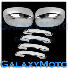 05-10 Chrysler 300 300c Chrome Mirror+4 Door Handle W/O PSG Keyhole Cover Combo