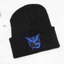 Pokemon Go Knitted Beanie Hat Team Mystic Instinct Valor Embroidered Slouch Cap