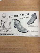Q1-j Ephemera 1950 Advert Cotton Oxford Cricket Boots Leicester