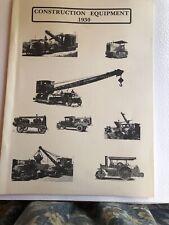 Construction Equipment 1930