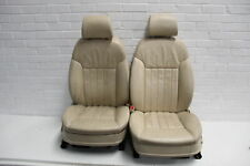 Audi A8 D3 Pair Cream Beige Leather Seats #1