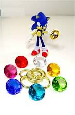 7 Chaos Emeralds & 5 Power Rings - Sonic the Hedgehog Series