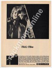 Rolling Stones Shure Microphones Down Beat 1970s Advert