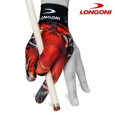 LONGONI Billiard POOL CUE GLOVE Tiger for Left hand + FREE SHIPPING!