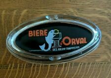Rare Vintage Orval Beer Advertising Ashtray Drink like a fish Belgium Trappist