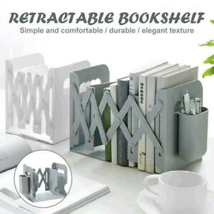 Retractable Bookend Books Stand Multifunction Book Folder Bookshelf Pen Holders