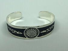 - Brand New! Art Engraving #3 Silver Mexican Bracelet Alpaca Mexico Cuff
