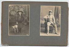 C685 Photographie ancienne vintage Japon Japan lot 7 photos fille et cochon