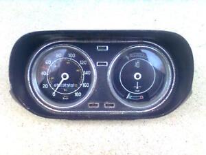 Ford Escort I Knochen Tacho Kombiinstrument km/h mp/h schwarz