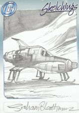 UFO Rare Graham Bleathman / Interceptor Sketch Card by Cards Inc.