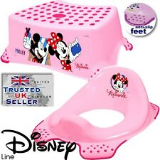 Disney MINNIE Pink BABY Toddler Toilet Training Seat & Step Stool anti-slip NEW