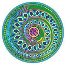 SUNSEAL - RAINBOW SERPENT MANDALA - STAINED GLASS DECAL FOR GLASS 14 CM
