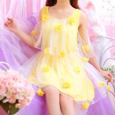 Japanese Sweet Girl Princess Lolita  Flower Flouncing Chiffon grenadine Dress