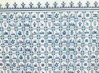 ANNABELLE STRIPE BLUE SERENITY ON CREAM-2392 DOLLHOUSE WALLPAPER 1:12 SCALE