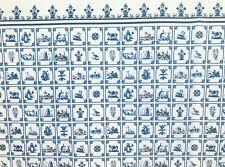Dollhouse Miniature Delft Blue Tiles / Wallpaper