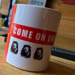 England Football Mug - Three Lions - Dad Gift Soccer - 2020 2021 Euro Champions
