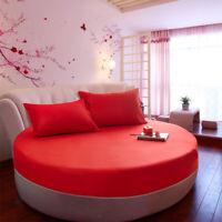 Lenzuolo da Letto Rotondo in Cotone Copertura Materasso 220cm- Rosso 1 pezzo