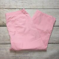 Liz Claiborne Cropped Jeans Size 10 Womens Pink Denim Capris Crop 100% Cotton