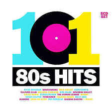 Various Artists: 101 80s HITS  NEW 5 CD SET - FREE POSTAGE