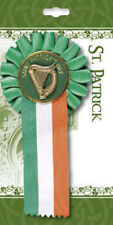 ROSETTE WITH HARP SAINT PATRICKS DAY ST PADDYS DAY IRISH IRELAND - OTHERS LISTED