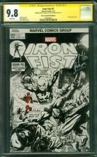 Iron Fist 1 CGC 2X SS 9.8 Perkins sketch Ed Deadpool Marvel Premiere 15 Variant