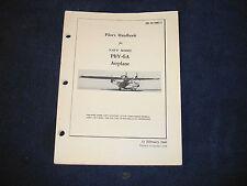 PBY-6A Catalina Pilot's Handbook Flight Operating Instructions Flight Manual