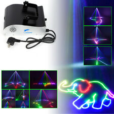 Laserlicht Show 1000mW RGB DMX, Sound 3D Animation Laser Licht Bühnenlicht 1Watt