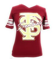 Florida Seminoles Ladies V Neck NCAA Collegiate Printed Tee Shirt NWT S-M-L-XL.