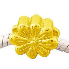 "ANDANTE-STONES ORIGINAL 14K GOLD BEAD FLOWER POWER ""BLUME"" #1402 + GESCHENK"