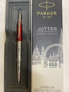 Parker Jotter Special Edition London Architecture Red  Ballpoint Pen New In Box