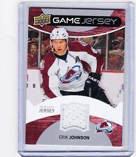 12-13 2012-13 UPPER DECK ERIK JOHNSON UD GAME JERSEY GJ-EJ AVALANCHE