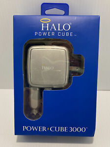 HALO 3000 Portable Power Cube with Built-In Auto & Wall Charger NIB