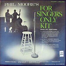 Phil Moore ORIG US LP For singers only kit Vol1 Ballads EX '60 Vee Jay Jazz