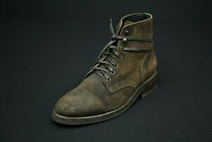 Thursday Boot Company Dark Olive Suede Captain Cap Toe 9
