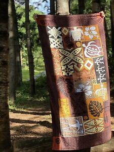 JUMBO/REGULAR Hawaiian Brown Tapa Beach Towel