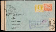 LA PAZ BOLIVIA 1940 TWICE CENSORED AIR FRANCE COVER TO EINDHOVEN NETHERLANDS